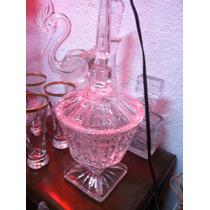 Bombonera Antigua De Cristal Cortado Marca Kristaluxus Daa
