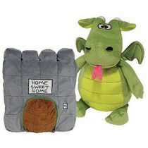 Peluche Dragon Happy Nappers Con Casa Y Timbre 55 Cms