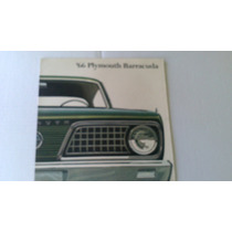 Catalogo De Venta De Plymouth Barracuda 1966 Original Raro