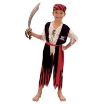 Pirate Costume - Hombres Childs Traje Del Vestido De Lujo Gr