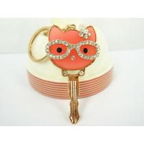 Llavero Tipo Swarovski Llave Hello Kitty