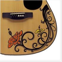 Stickers Decorativo Flower Custom Para Guitarra Acustica