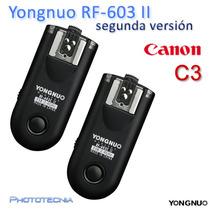Set 2 Radios Yongnuo Rf-603 Ii C3 Canon 50d,6d,5d,7d,1d,40d