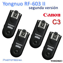 Set 4 Radios Yongnuo Rf-603 Ii C3 Canon 50d,6d,5d,7d,1d,40d