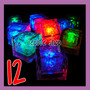 12 Hielos Luminosos Multicolor Led Luz Activan Con Agua