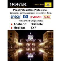 Papel Fotográfico Profesional 5x7 Brillante 100 Fotos