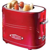 Maquina De Hot Dogs Nostalgia Tipo Tostador P/2 Hotdogs