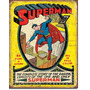 Poster Metalico Anuncio Lamina Retro Comic Superman No 1