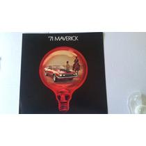 Catalogo De Venta De Ford Maverick 1971 Original Nuevo Raro