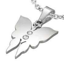 Dije Diseño Mariposa Con Zirconias