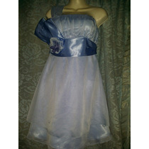 Lindo Vestido Azul Para Fiesta Limpia De Closet