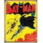 Poster Metalico Anuncio Lamina Retro Comic Batman No 1 Robin