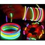 100 Pulseras Neón Lumino Animación,bodas,eventos,fiestas Op4