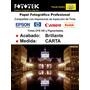 Papel Fotográfico Profesional Carta Brillante 50 Fotos