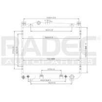 Radiador Dodge Dakota 1990-1991-1992 L4/v6 2.5/3.9 Lts Auto