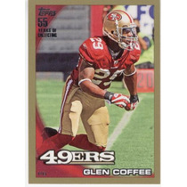 2010 Topps Gold Parallel Glenn Coffee 49ers /2010