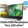 Monitor Hp Envy 27 Ips Led Beats Audio, Hdmi, Displaypor