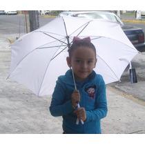 Paraguas/ Sombrillas De Tela Infantil Color Blanco Publicida