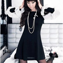 Vestido Blusón Fashion Corto Casual Moda Japonesa
