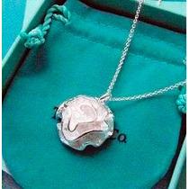 Cadena Y Dije Flor- Rosa-de Plata.925 -flete Gratis