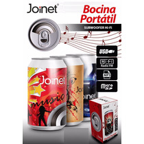 Oferta! Bocina Lata Usb Mp3 Sd Fm Aux Recargable