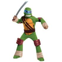 Disfraz Talla 4 A 6 Tortugas Ninja Leonardo De Lujo Niño