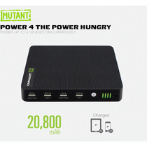 Bateria Externa Portatil Power Bank Negro Ppw20000k Lenmar