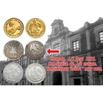 Moneda Mexico 1/2 R1825 Aguila De Escudo Considerada Mula