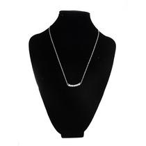Collar Dije Con Piedras Brillantes Accesorio Mujer