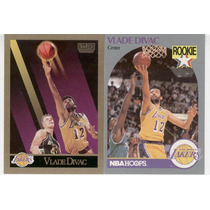 1990 Hoops Y Sky Box Vlade Divac Rc Lakers ( 2 ) Tarjetas