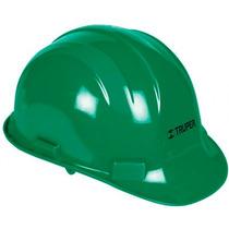 Casco De Seguridad Ajuste Con Perilla Verde Truper 10374