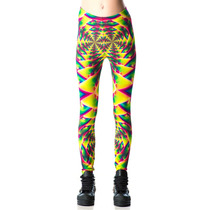 Leggings Psycodelicos Marca Lip Service Retro Rave Punk 90s