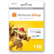 Nintendo Eshop Cards Tarjetas Prepago Wii U 3ds