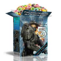 Kit Imprimible Halo 4 Textos 100% Editables Compra Ya!
