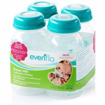 Evenflo 4 Botellas Almacenar Leche Materna Extractor De Lech