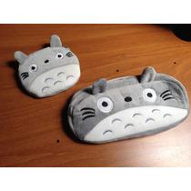 Totoro Lapicera - Cosmetiquera Y Monedero: Combo De Miyazaki