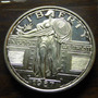 Moneda Arte Replica Standing Liberty 1 Oz .999 Plata Troy