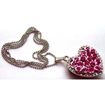 Corazón Con Arreglo De Rosas Y Cristales Usb 8gb