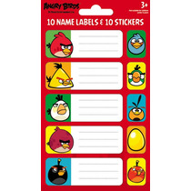 Angry Birds Pegatinas - Paquete 1 (etiquetas) Decoración