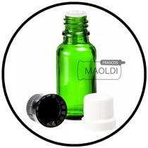 Frasco Gotero De Vidrio Verde 20ml 25 Pzas (envase, Inserto)