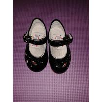 Zapatos De Charol Marca Coqueta Para Bebita, Talla 12 Cms