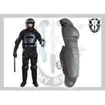 Rodillera-espinillera,antimotin,policíacas,cascos,chalecos