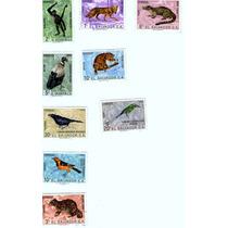 Timbres Postales Fauna Silvestre Del Salvador