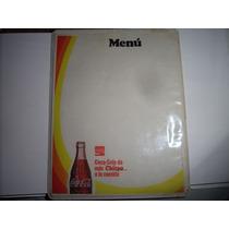 Antiguo Menu De Coca-cola Chispa De La Vida Baul R.