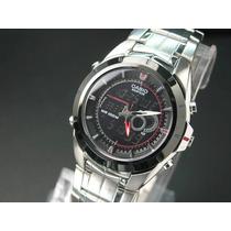 Reloj Casio Edifice Active Dial Efa-119bk Anadigi 50 Lap
