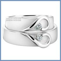 Argollas De Matrimonio Mod. Isabelle Oro Blanco 14k Solido