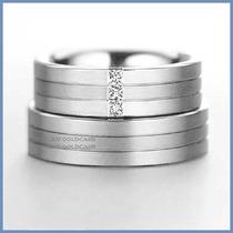 Argollas De Matrimonio Mod. Montblanc Oro Blanco 14k Solido