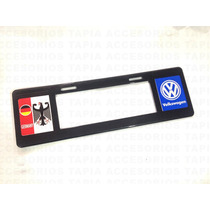 Porta Placa Tipo Euro De Plástico Logo Impreso Volkswagen