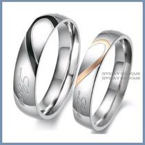 Argollas De Matrimonio Mod. Love En Oro Blanco 10k Solido