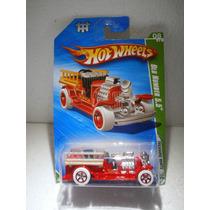 Hot Wheels T Hunt Bomberos Old Number 5.5 Rojo 60/214 2010tl